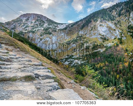 Alpine touristic trail in High Tatra, Poland