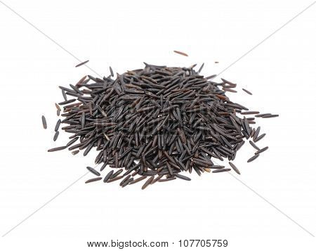 Black Rice On White