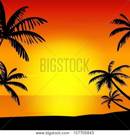 Sunset on island. Sunset on island art. Sunset on island background. Sunset on island illustration. Sunset on island web.