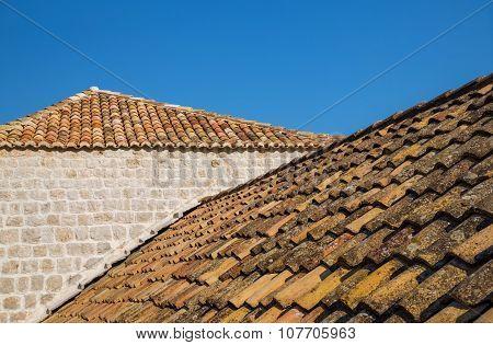 Roof Tiles In Dubrovnik, Croatia