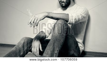 Fashion Man Closeup