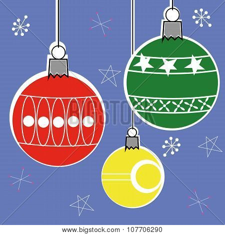 Retro Style Christmas Decorations