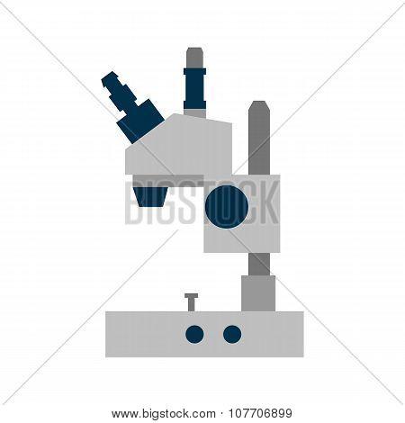 Microscope flat icon