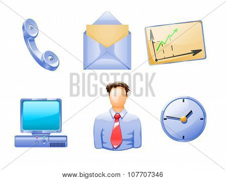 different business objects and people