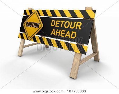 Detore ahead sign