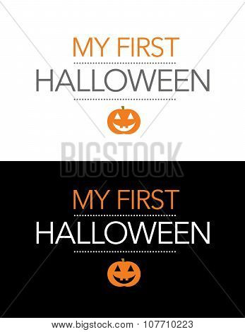 Vector My First Halloween Graphic