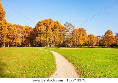 Path Through Park Schlossgarten, Stuttgart