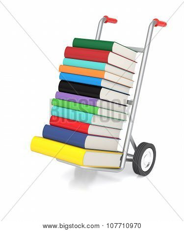 Hand Truck With Color Books