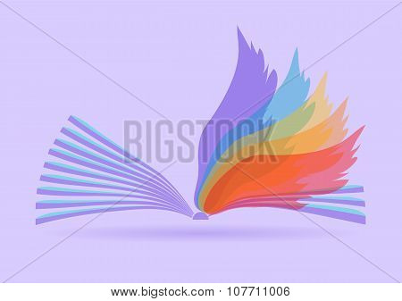 Abstract Opened Book
