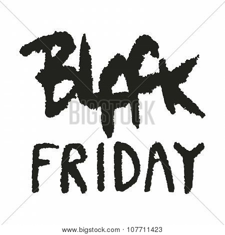 Grungy Hand Drawn Black Friday Sale Lettering
