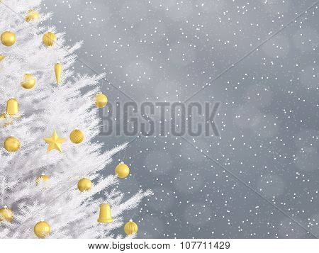 New Year Background With Christmas Tree 3D Rendering