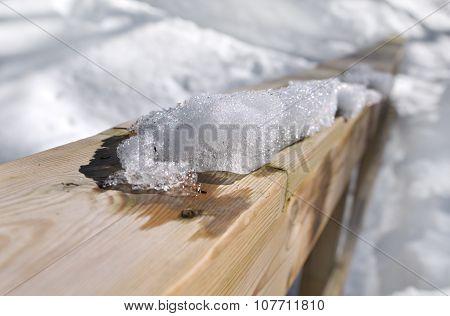 Hand Rail Under Snow
