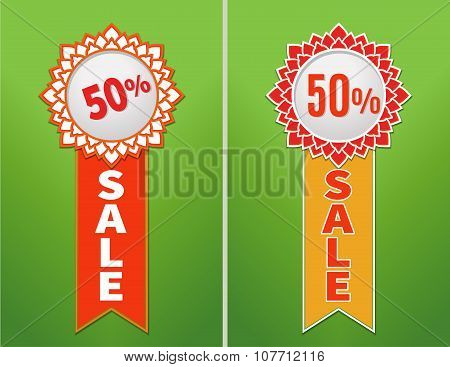 Sale Stickers with place for text. Labels.
