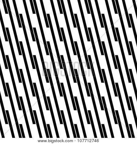 Seamless monochrome angular line pattern