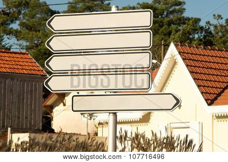 Blank Sign Illustration Design Over A White Background