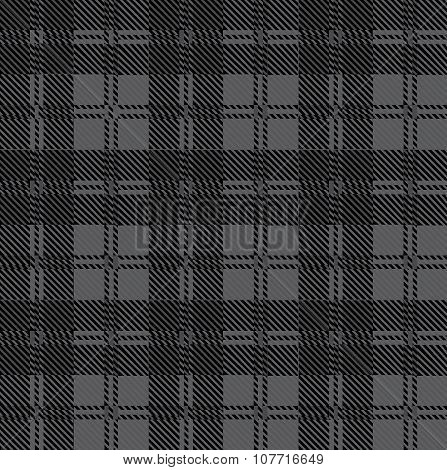 Grey Check Tartan Wool Material