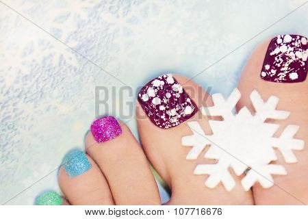 Winter manicure .