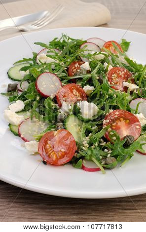Salad With Arugula And Vegetables
