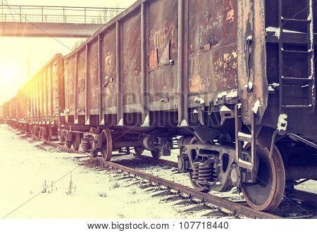 Big cargo transportation by rail