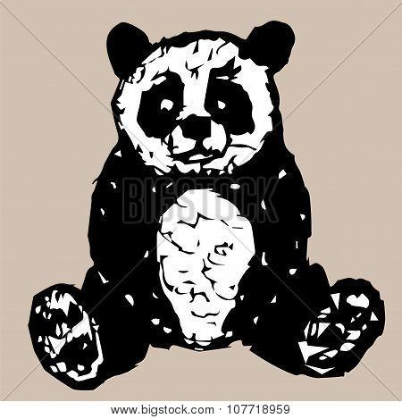 Figure Sitting Panda