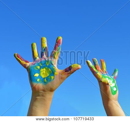 Painted Kid Hands