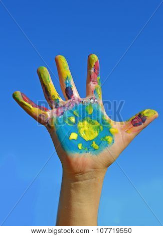 Painted Kid Hand