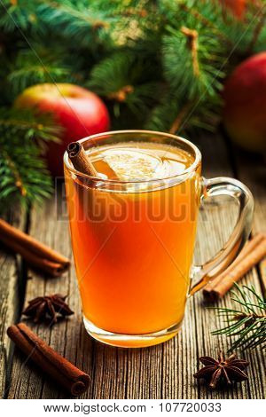 Hot toddy traditional winter alcohol warming drink recipe. Homemade christmas holiday aromatic bever