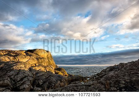 Sea cliff in archipelago