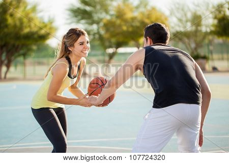Playing Basketball With My Boyfriend