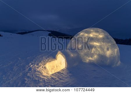 igloo in the high mountain