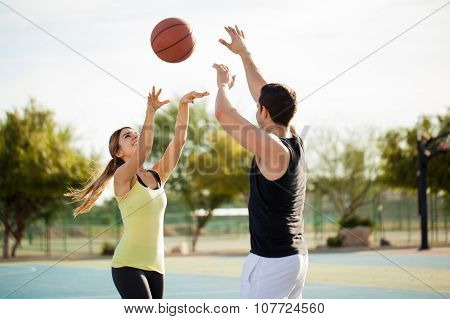 Playing Basketball On A First Date