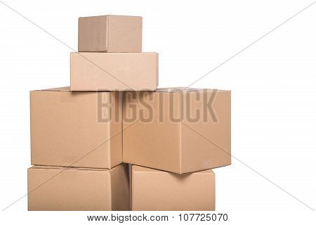 Cardboard boxes isolated.