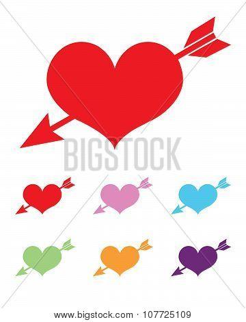 Vector Heart and Arrow Icon