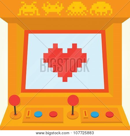 Be my retro valentine isolated vector