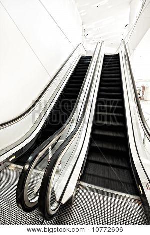 Airport Staircase Elevated Indoor Walk Corridor
