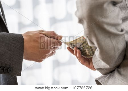 Corruption And Bribery Concept