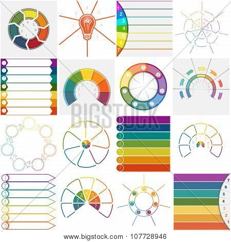 16 Templates Infographics Cyclic Processes Seven Positions
