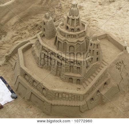 Large sand castle