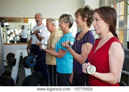 Dumbbell Exercises With Seniors