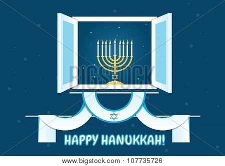 Happy Hanukkah Postcard Design