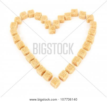 Heart shaped rusks isolated on white