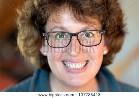 Happy Woman With Glasses