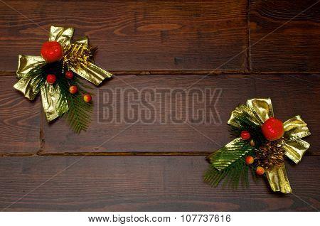 Christmas Golden Bowknot