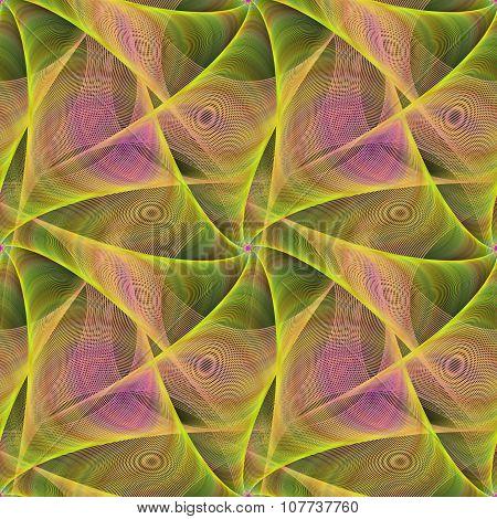 Seamless abstract veil fractal design