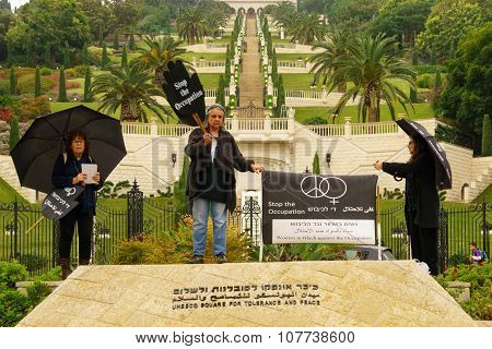 Women In Black Protest, Haifa