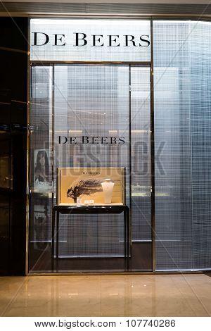 De Beers Fashion Boutique Display Window. Hong Kong