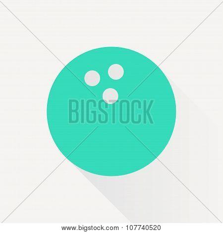 Vector bowling ball icon