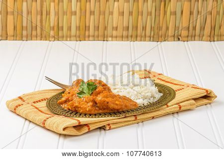 Chicken Korma And Basmati Rice
