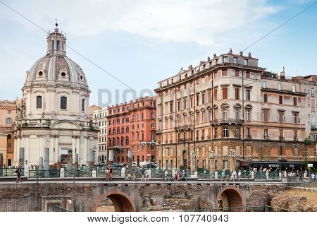 Santa Maria Di Loreto Church In Rome, Italy