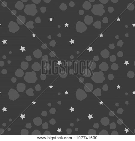 Seamless pattern with asteroids